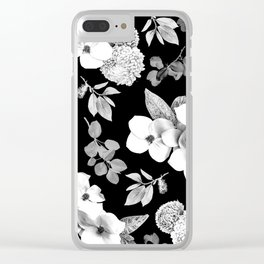 Night bloom - moonlit bw Clear iPhone Case