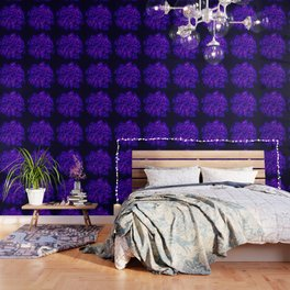 Queen Anne's Lace in Blue and Purple Wallpaper