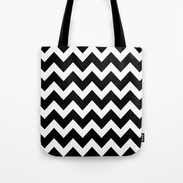 Chevron Black & White Tote Bag