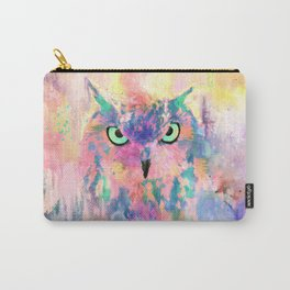 Watercolor eagle owl abstract paint Carry-All Pouch