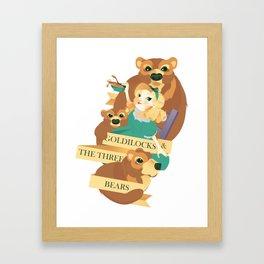 Goldilocks and the Three Bears Poster Framed Art Print