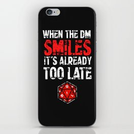 When the Dungeon Master smiles... iPhone Skin