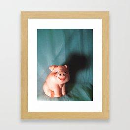 Refrigerator Pig Framed Art Print