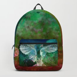 """""""Owl flight and spring night"""" Backpack"""