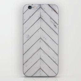 Wooden pattern - arrow shape, art decor iPhone Skin
