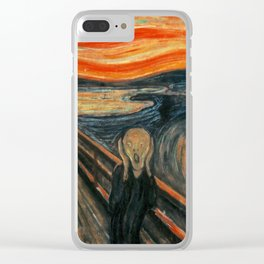 The Scream by Edvard Munch Clear iPhone Case