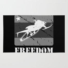FREEDOM! Snowmobile Rug