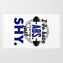 Shy Abs Fitness Workout Gym Training Design Rug