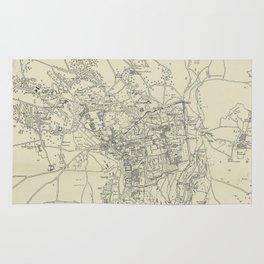 Vintage Map of Jerusalem Israel (1917) Rug