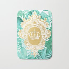 Tropical Leaf Crown Bath Mat