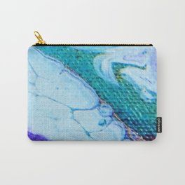 Acrylic Pour Peacock Carry-All Pouch