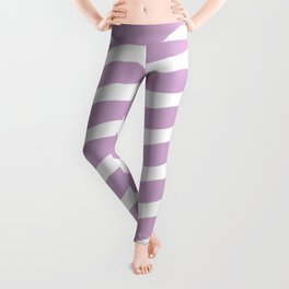 Lavender Abstract Wavy Lines Pattern Leggings