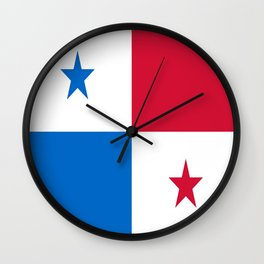 flag of panama-Panama,Panamanian,canal,spanish,San Miguelito,Tocumen,latine,central america,panameno Wall Clock
