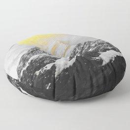 Moon dust mountains Floor Pillow