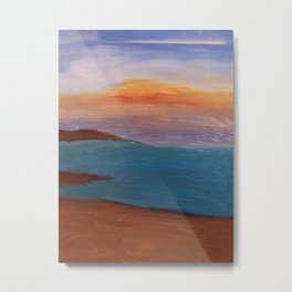 Sunset Lost in Abstraction Metal Print