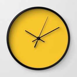 Canary Yellow - Solid Color Collection Wall Clock