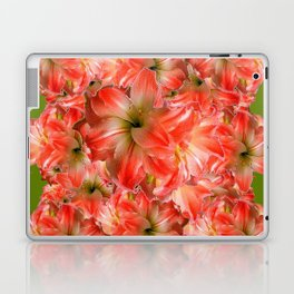 Peppermint Color Amaryllis Flower Avocado Pattern Laptop & iPad Skin