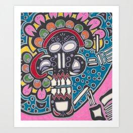 El Craneo Art Print