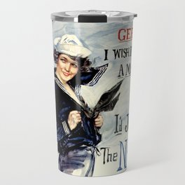 Vintage U.S. Navy Recruitment Poster Travel Mug