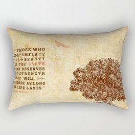 Strength Beautiful Earth Rustic Birds Rectangular Pillow