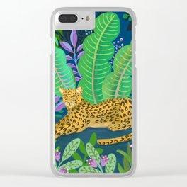 Jungle Leopard in the Evening Clear iPhone Case