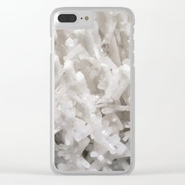 Botanical Gardens II - White Crystals #252 Clear iPhone Case
