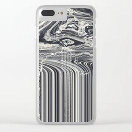 Eye Glitch Art Clear iPhone Case