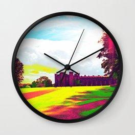 scone palace in technicolor Wall Clock