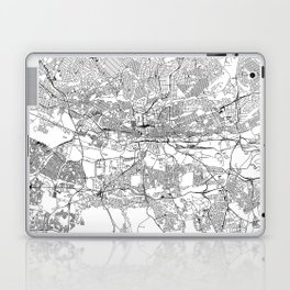 Johannesburg White Map Laptop & iPad Skin