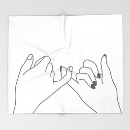 Pinky Promise 3 Throw Blanket