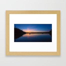 SAND POND SUNSET Framed Art Print