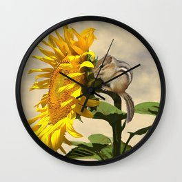 Waiting for the Sunflower Wall Clock