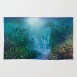 purple forest landscape Rug