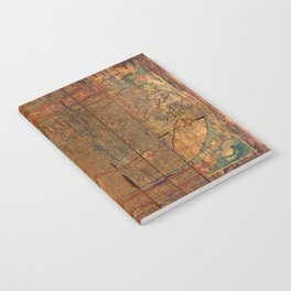 Distressed Old Map Notebook