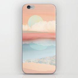 Mint Moon Beach iPhone Skin