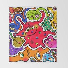 Jigsaw Germs Throw Blanket