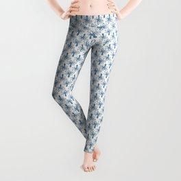 Octopus blue watercolor pattern - Lo Lah Studio Leggings