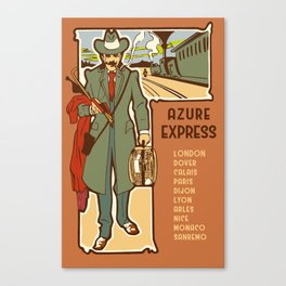 Azure Express train travel Canvas Print