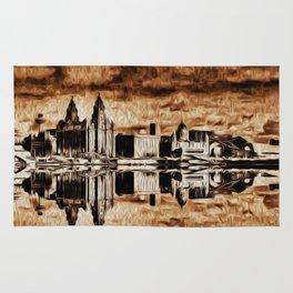 Liverpool Water front Skyline (Digital Art) Rug