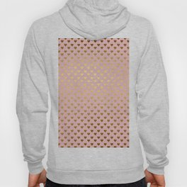 Gold and pink sparkling and shiny Hearts pattern Hoody