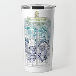 Mandala police box Travel Mug