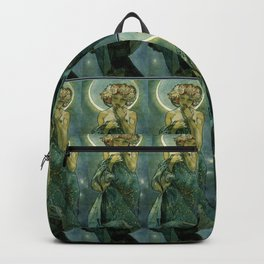 """Alphonse Mucha """"The Moon and the Stars Series: The Moon"""" Backpack"""