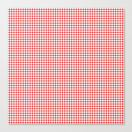 Red Gingham Canvas Print