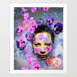 Floral Portrait 1 Art Print