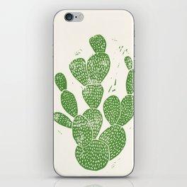 Linocut Cactus #1 iPhone Skin