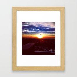 Sunset Rooftop Framed Art Print