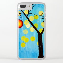 Modern Tree Clear iPhone Case