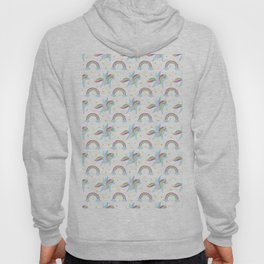 Cute abstract magical pink rainbow unicorn pattern Hoody