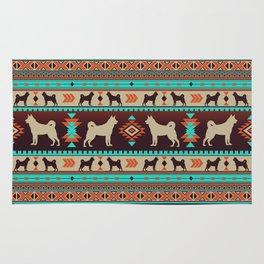 Boho dogs | Elkhound/Jämthund sunset Rug