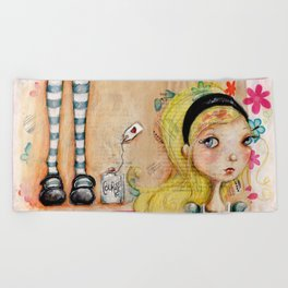 Courage, Alice (Color) Beach Towel